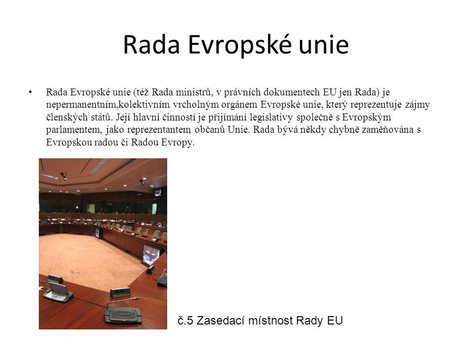 Rada Evropské unie č.5 Zasedací místnost Rady EU