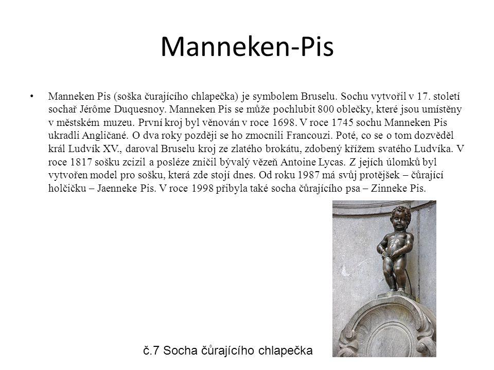 Manneken-Pis č.7 Socha čůrajícího chlapečka