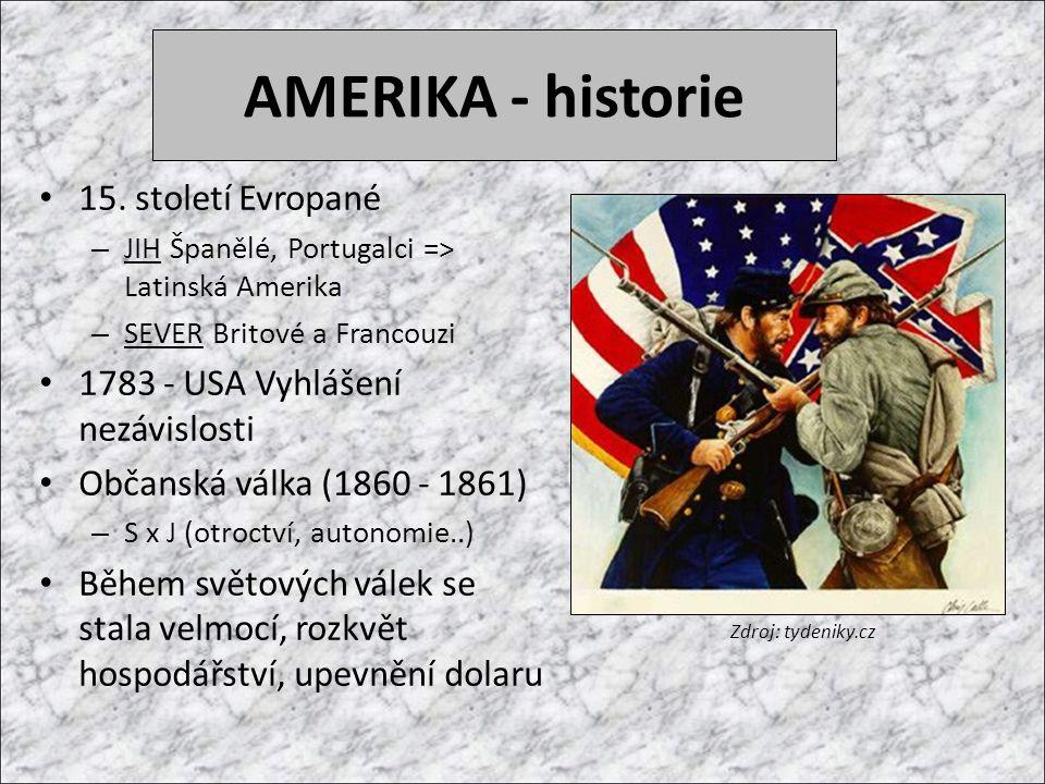 AMERIKA - historie 15. století Evropané