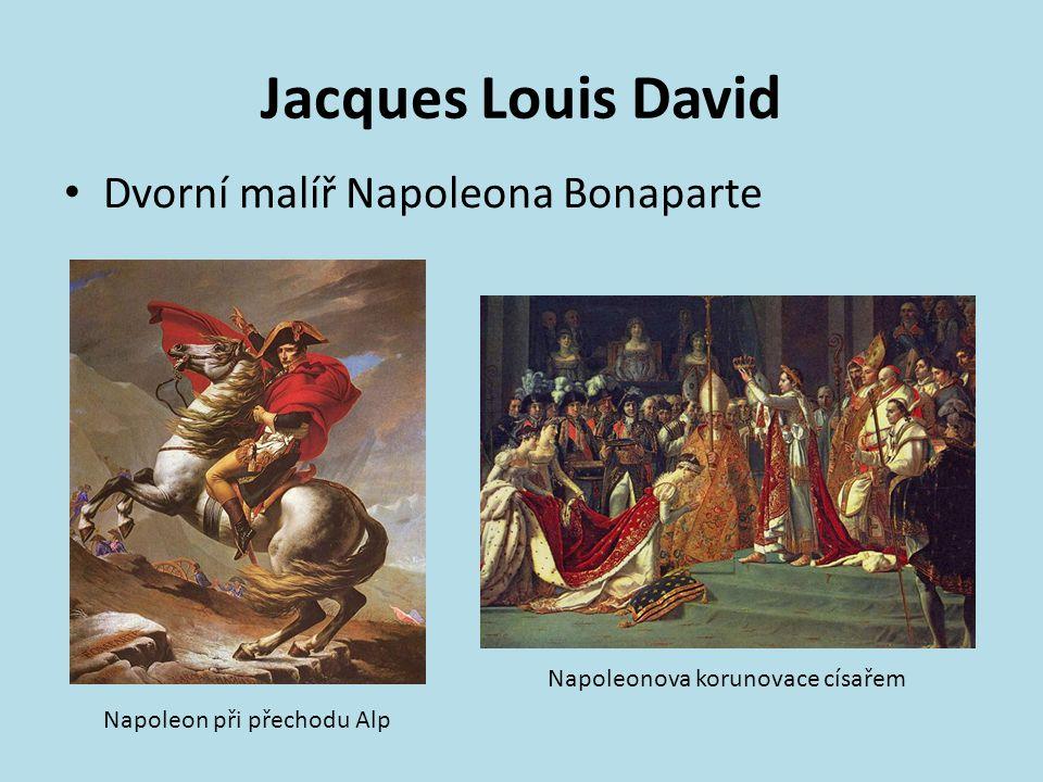 Jacques Louis David Dvorní malíř Napoleona Bonaparte