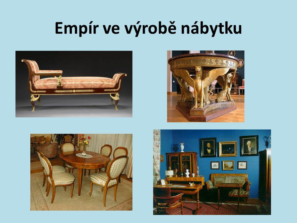 Empír ve výrobě nábytku