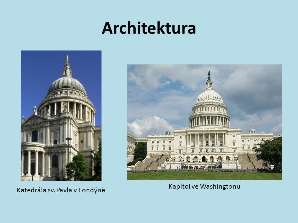 Architektura Kapitol ve Washingtonu Katedrála sv. Pavla v Londýně