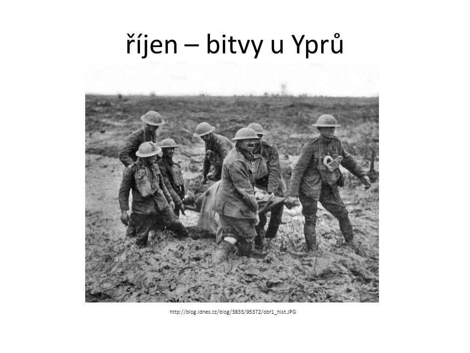 říjen – bitvy u Yprů http://blog.idnes.cz/blog/3833/95372/obr1_hist.JPG