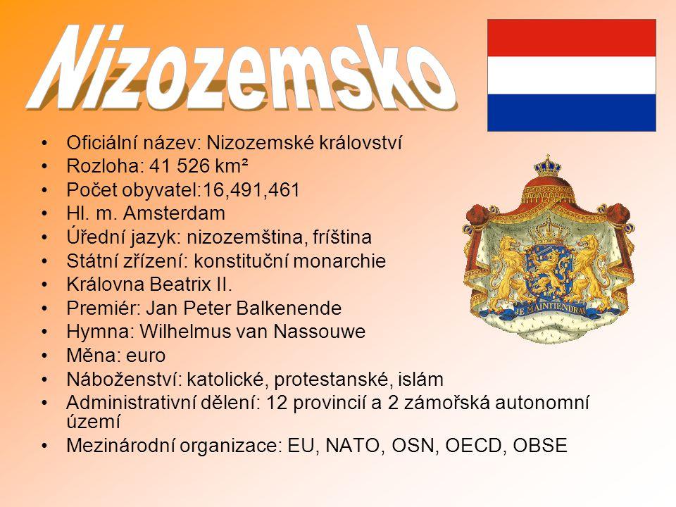 Oficiální název: Nizozemské království