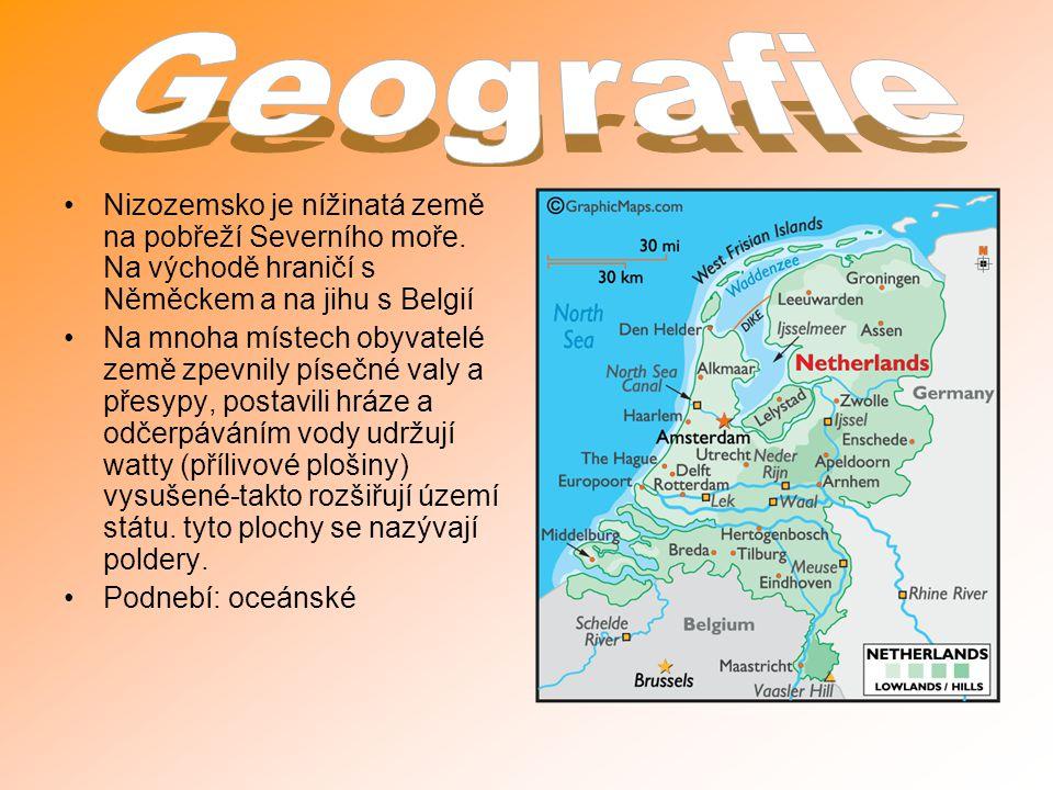 Nizozemsko je nížinatá země na pobřeží Severního moře