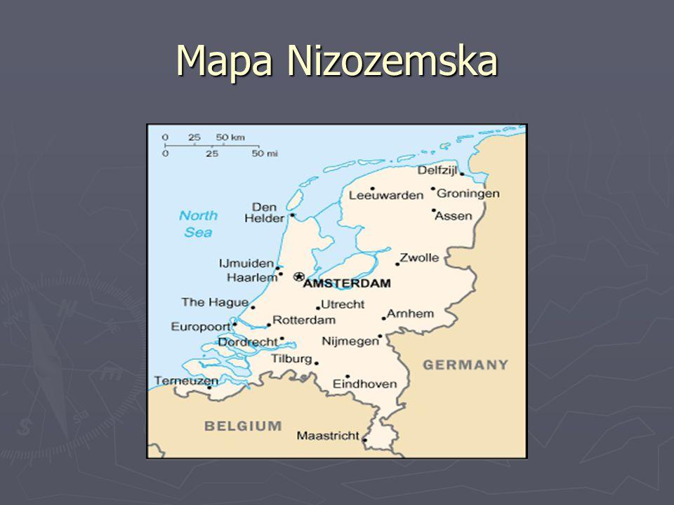 Mapa Nizozemska
