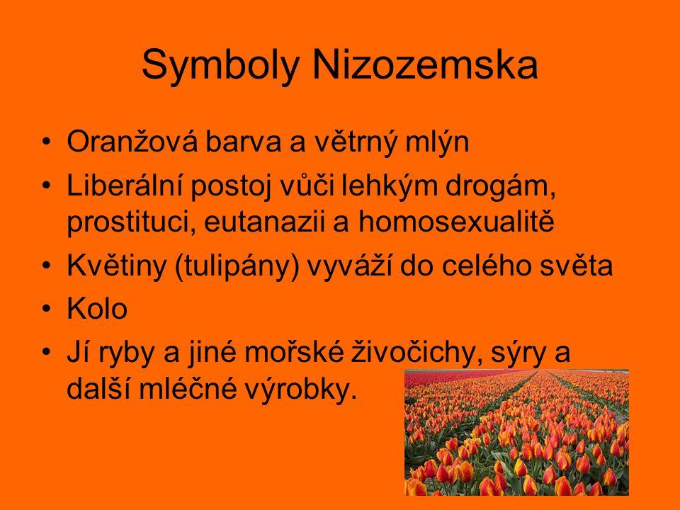 Symboly Nizozemska Oranžová barva a větrný mlýn