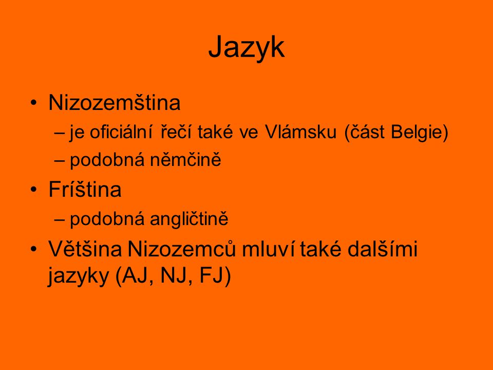 Jazyk Nizozemština Fríština