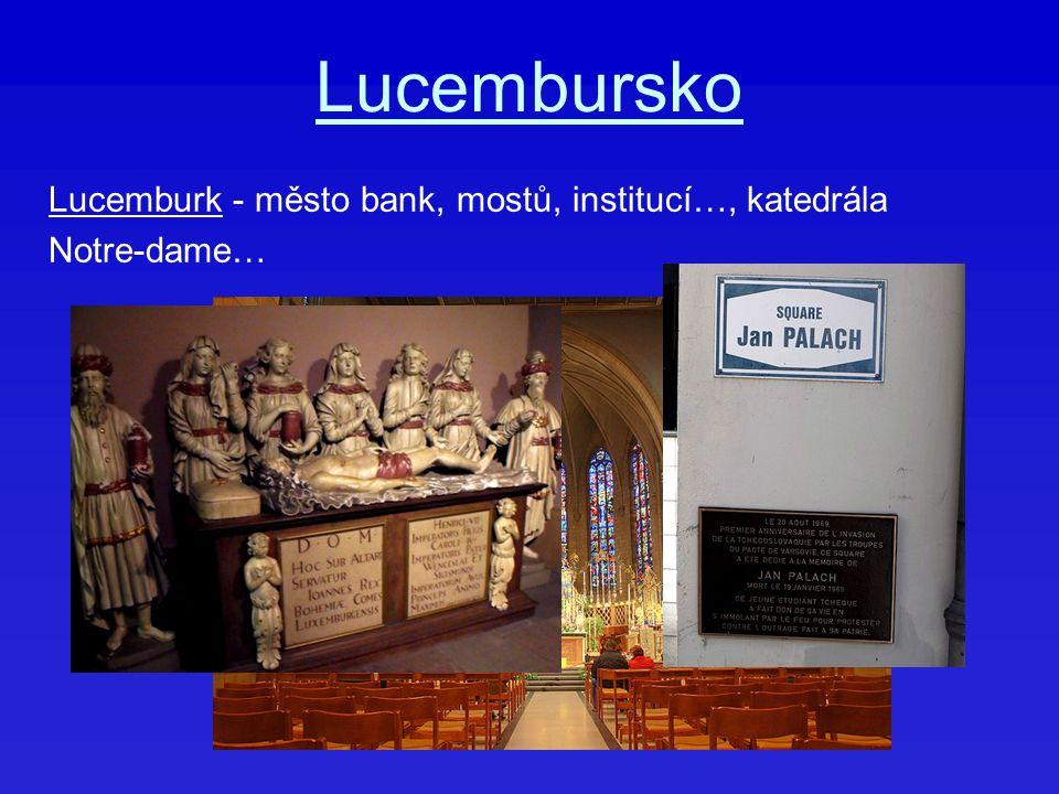 Lucembursko Lucemburk - město bank, mostů, institucí…, katedrála