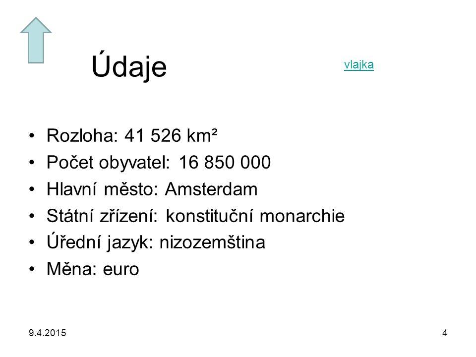 Údaje Rozloha: 41 526 km² Počet obyvatel: 16 850 000