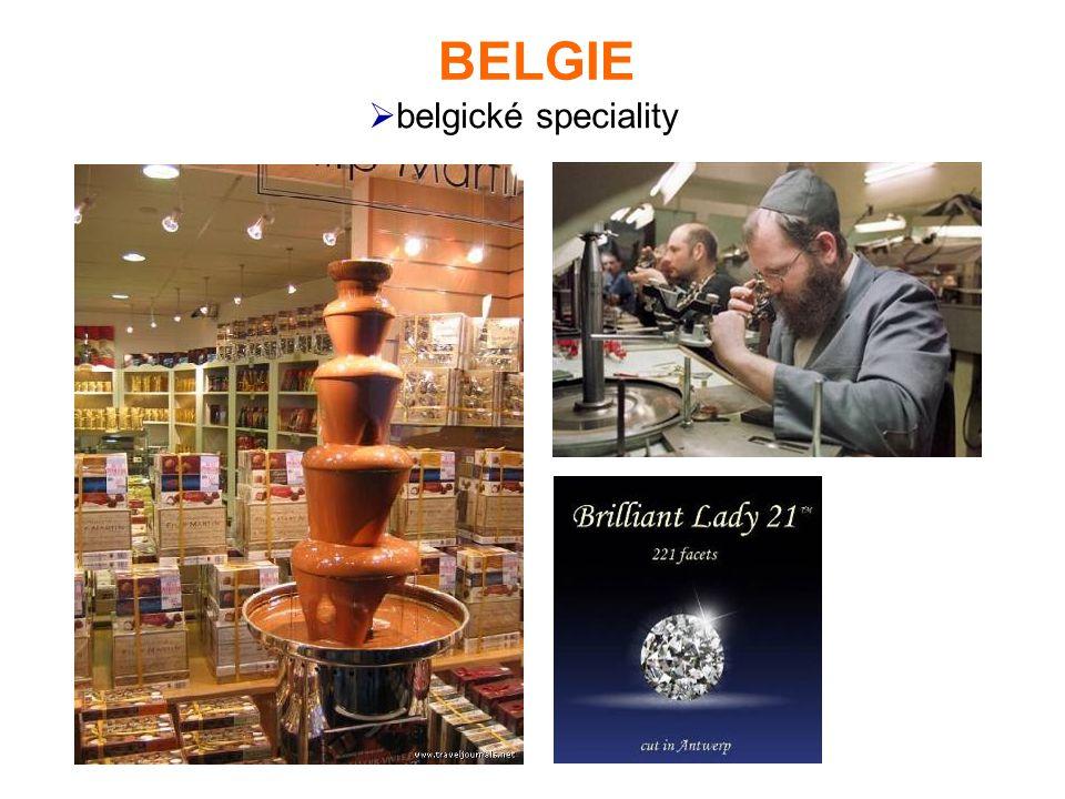 BELGIE belgické speciality