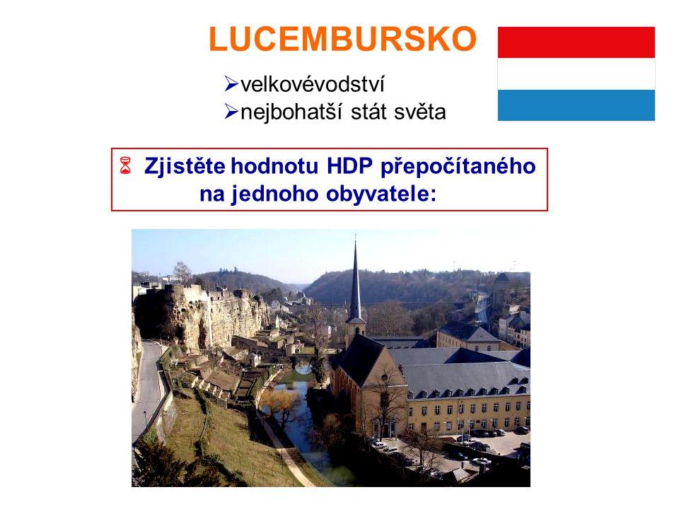 LUCEMBURSKO velkovévodství nejbohatší stát světa