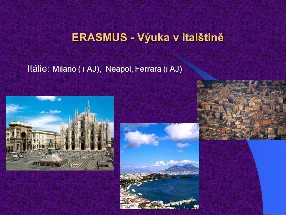 ERASMUS - Výuka v italštině