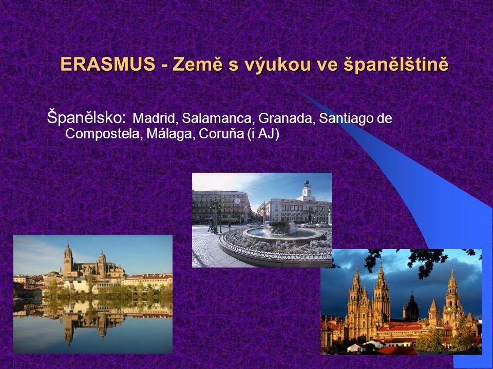ERASMUS - Země s výukou ve španělštině