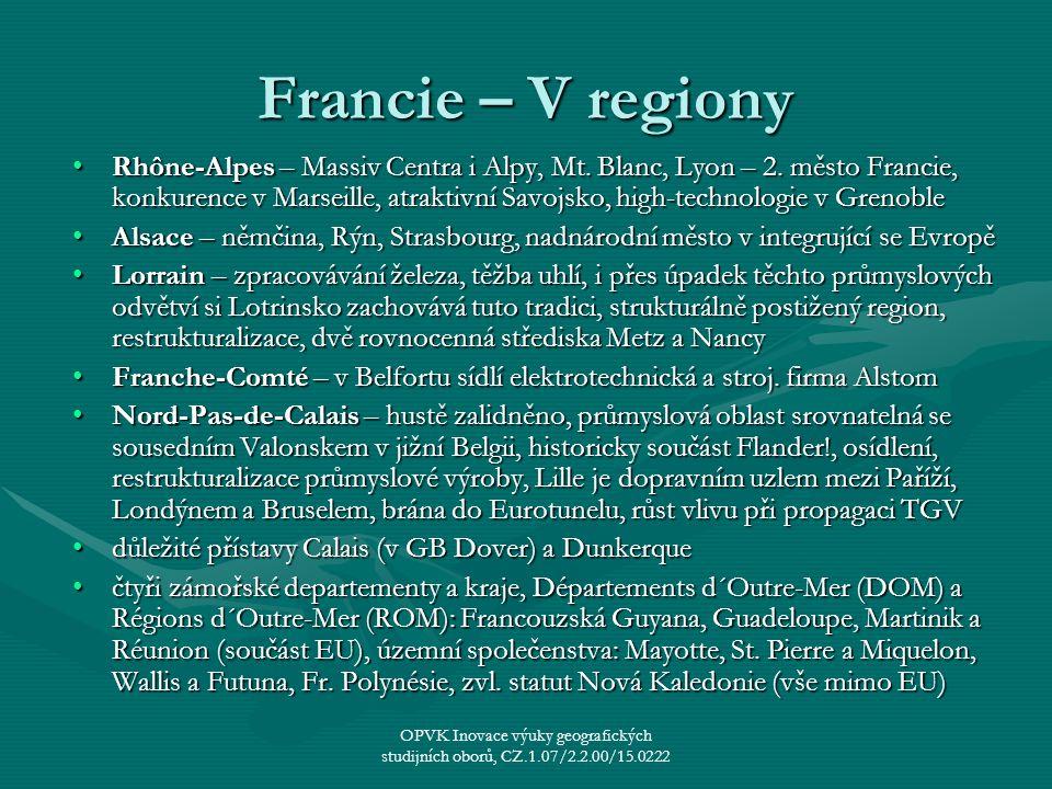 Francie – V regiony