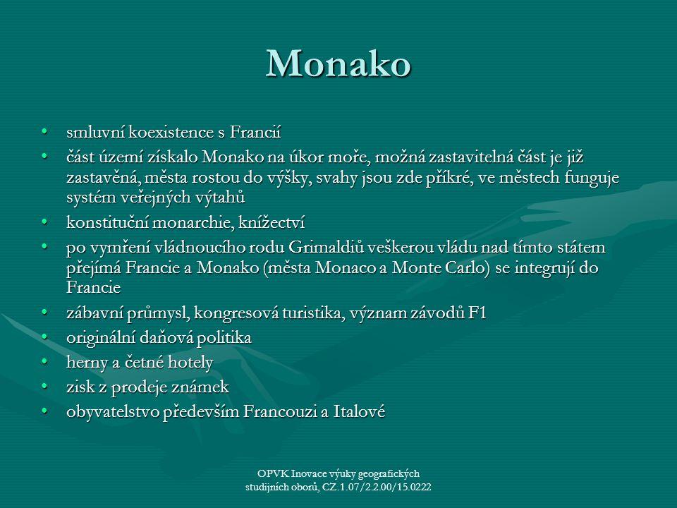 Monako smluvní koexistence s Francií