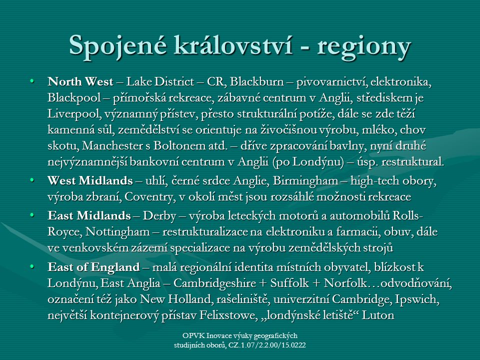 Spojené království - regiony