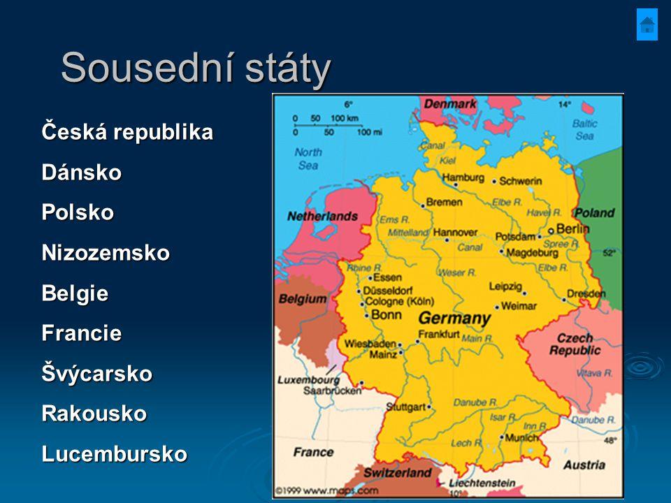 Sousední státy Česká republika Dánsko Polsko Nizozemsko Belgie Francie