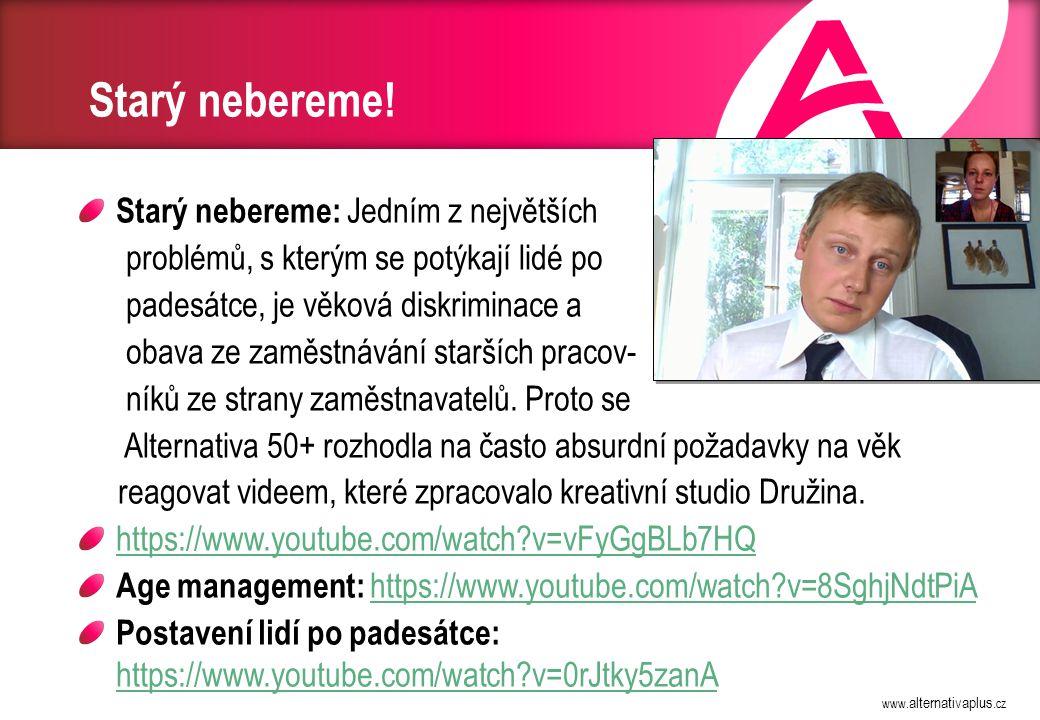 Alternativa 50+, o. p. s. Kancelář Sídlo Právní poradna WWW