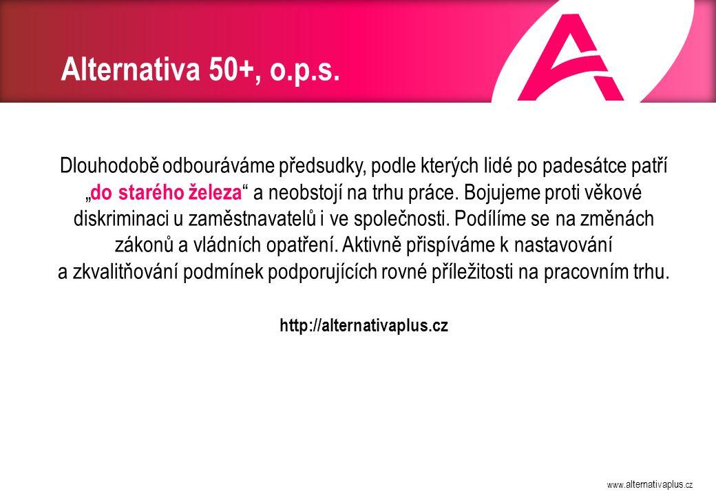 Demografický vývoj Zdroj: ČSÚ, 2013 50+