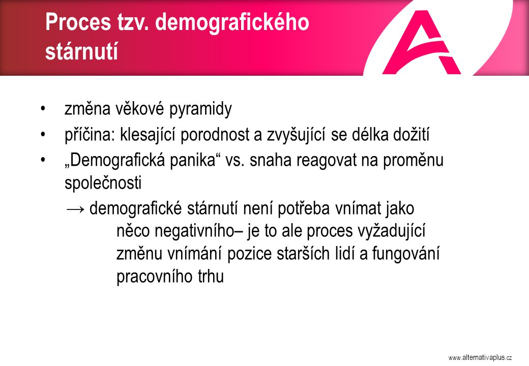 Zaměstnanost v ČR z hlediska věku (ČSÚ): 1993 - 2003