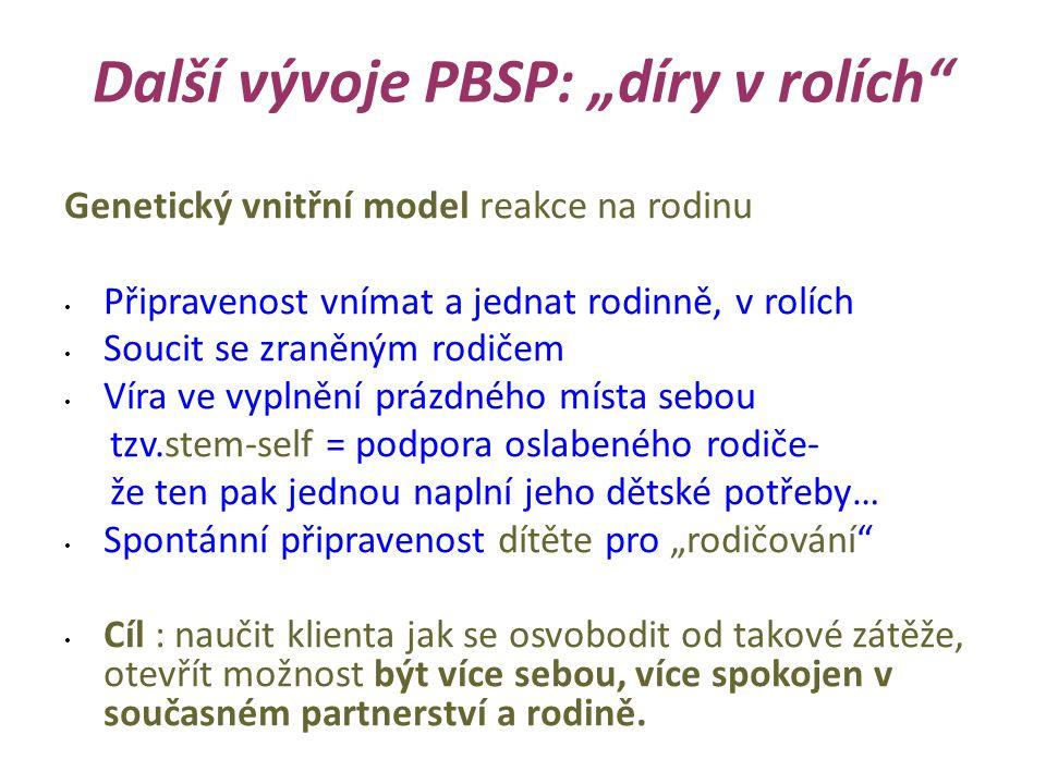 """Další vývoje PBSP: """"díry v rolích"""