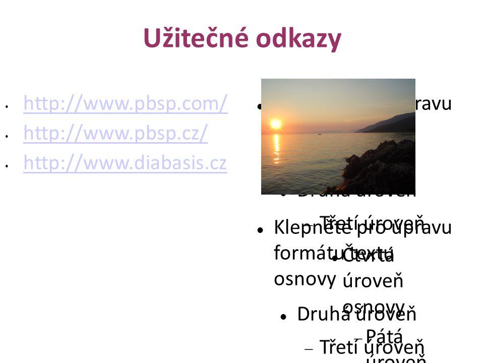 Užitečné odkazy http://www.pbsp.com/ http://www.pbsp.cz/
