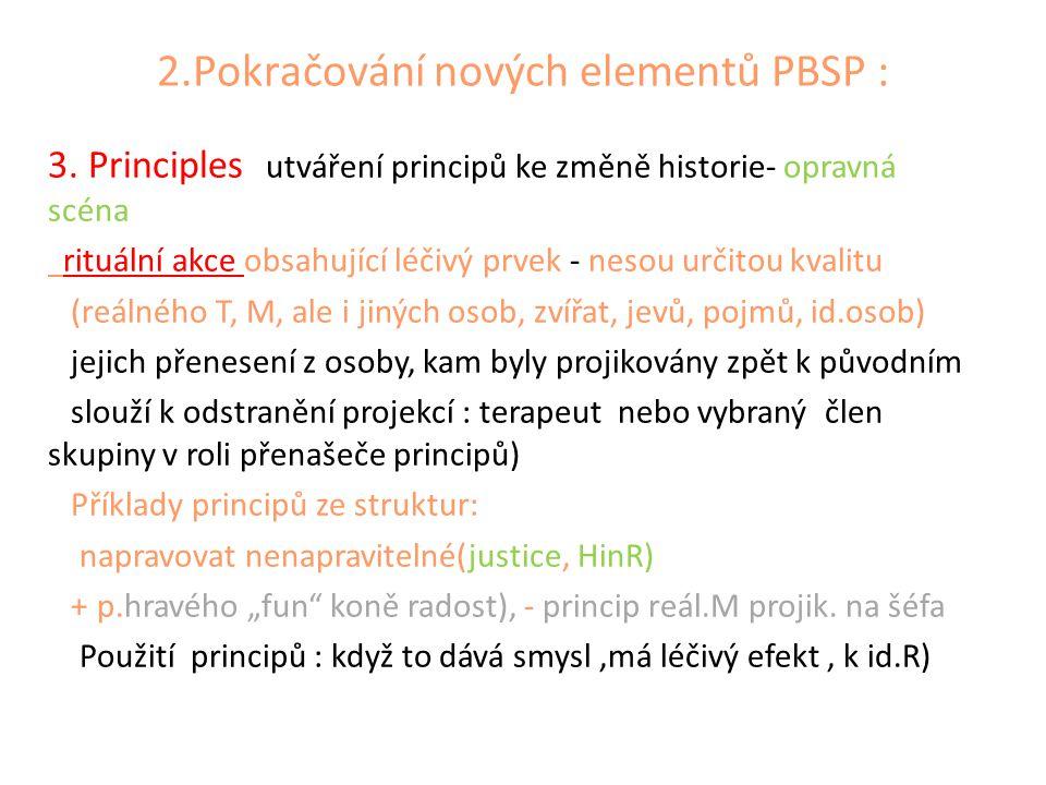 2.Pokračování nových elementů PBSP :