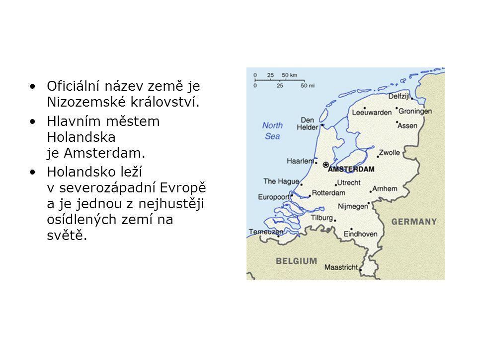 Oficiální název země je Nizozemské království.