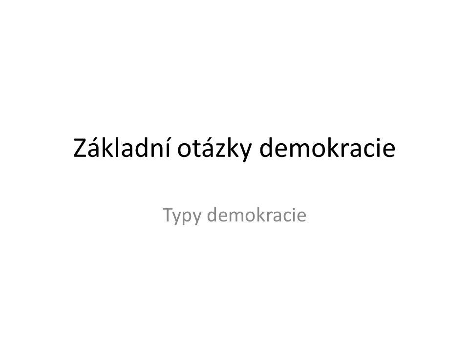 Základní otázky demokracie