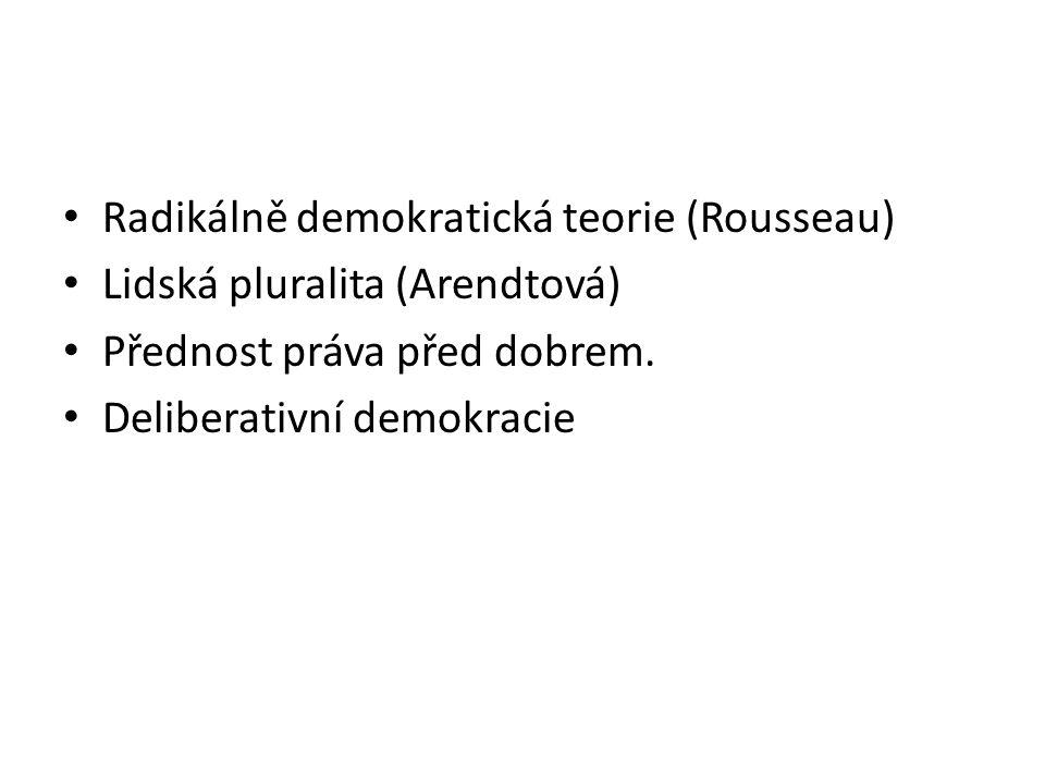 Radikálně demokratická teorie (Rousseau)