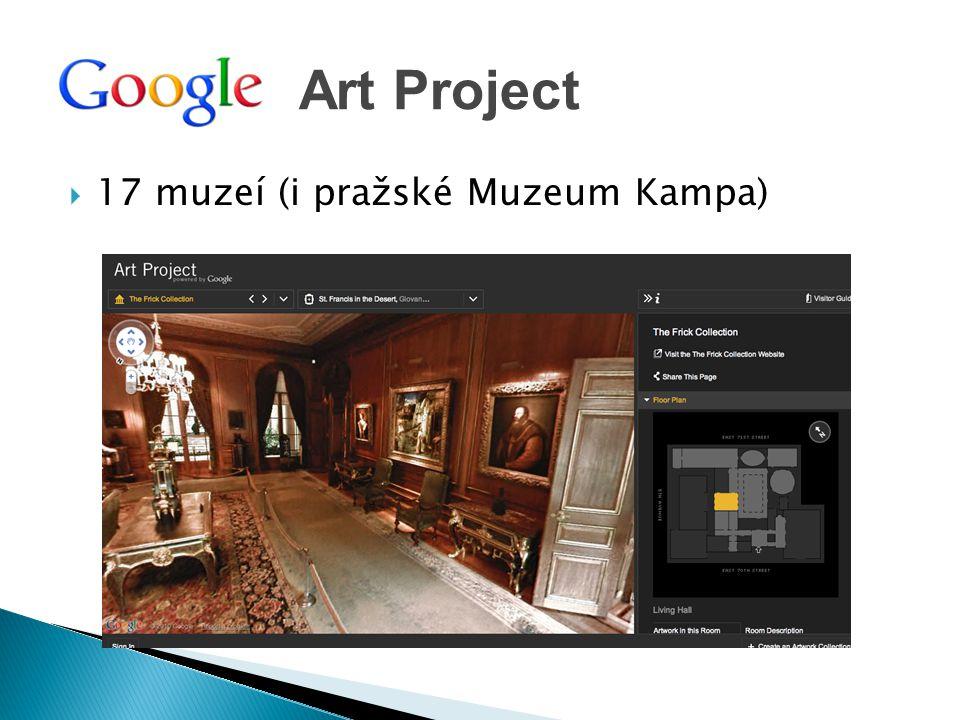 Art Project 17 muzeí (i pražské Muzeum Kampa)