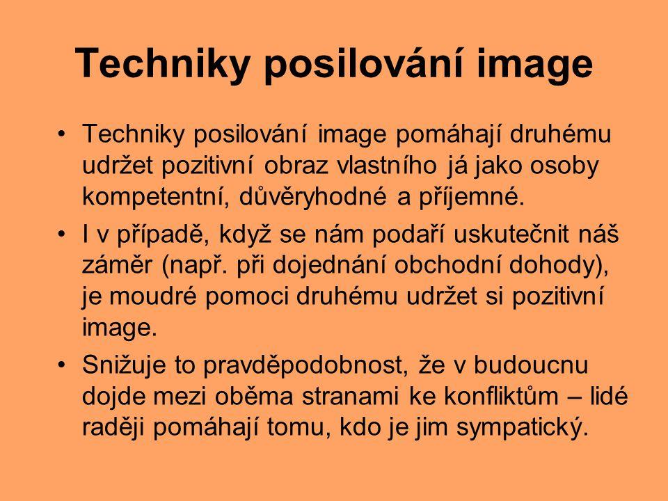 Techniky posilování image