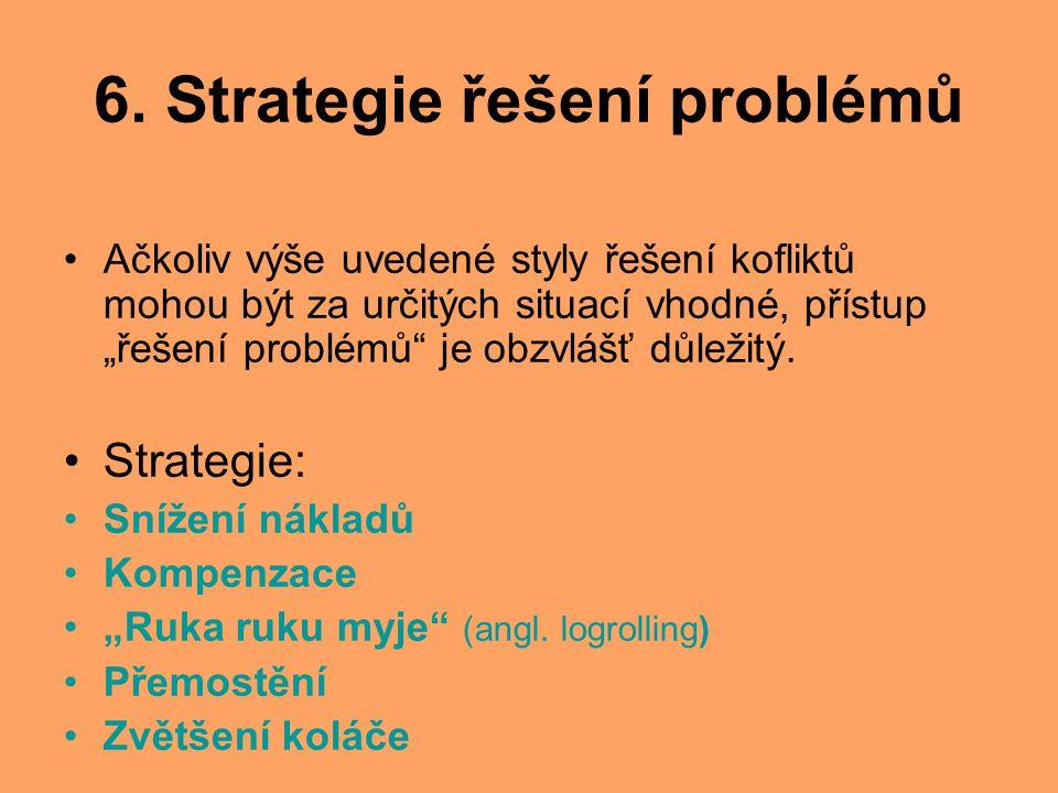 6. Strategie řešení problémů