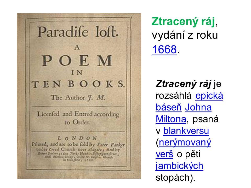 Ztracený ráj, vydání z roku 1668.