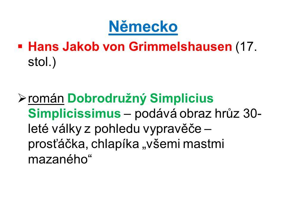 Německo Hans Jakob von Grimmelshausen (17. stol.)