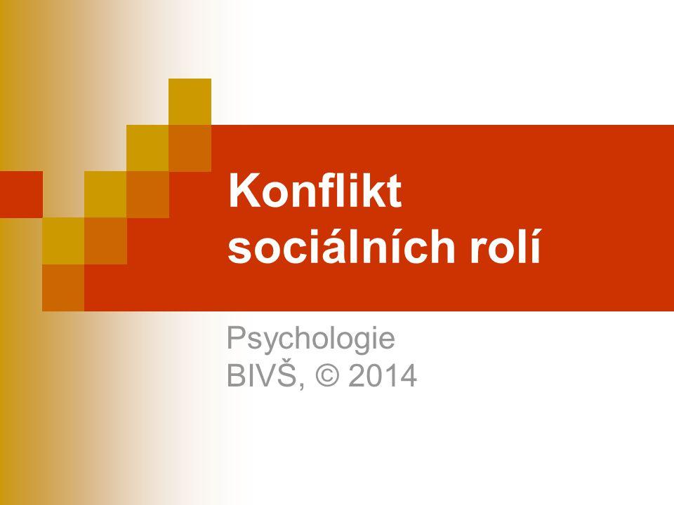 Konflikt sociálních rolí