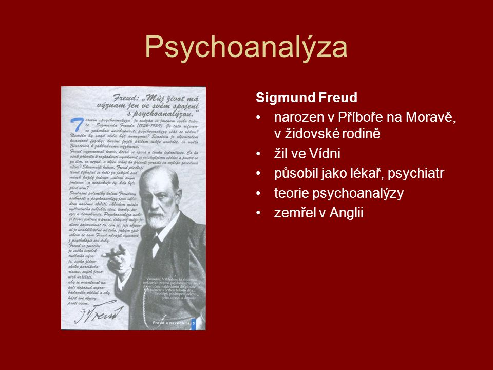 Psychoanalýza Sigmund Freud
