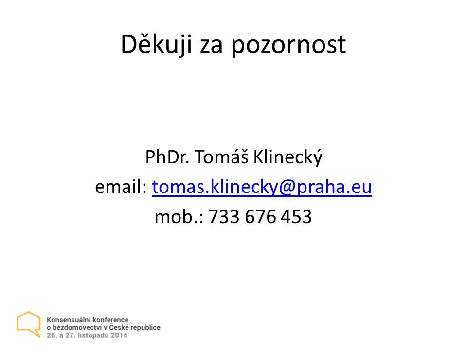 PhDr. Tomáš Klinecký email: tomas.klinecky@praha.eu mob.: 733 676 453