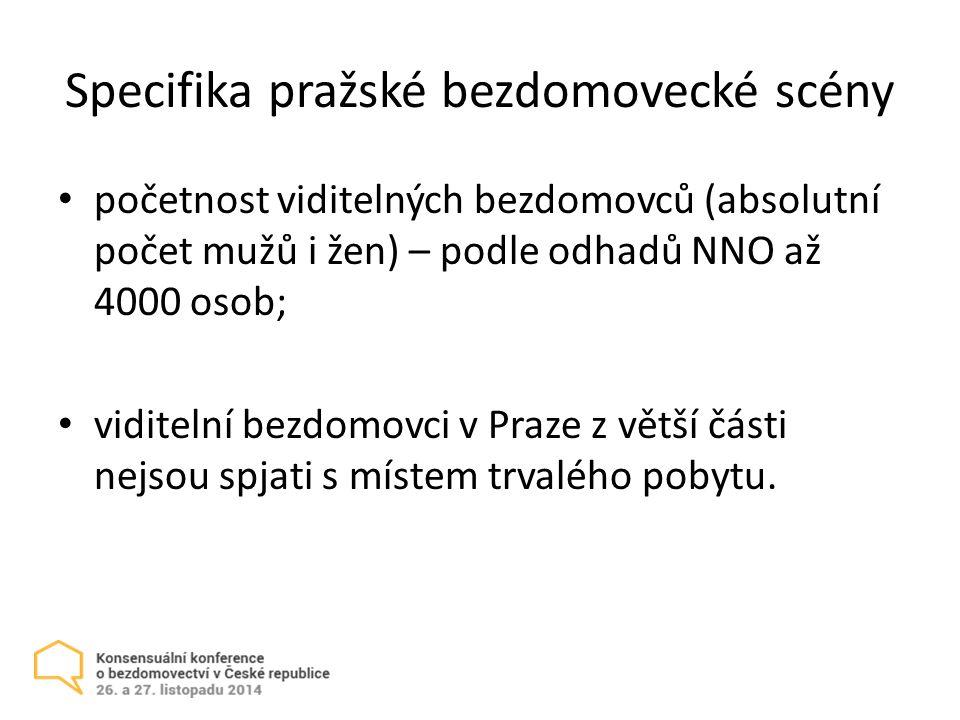 Specifika pražské bezdomovecké scény