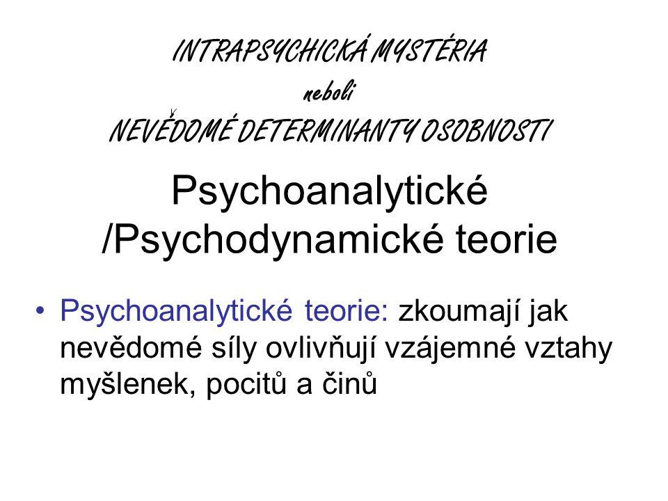 Psychoanalytické /Psychodynamické teorie