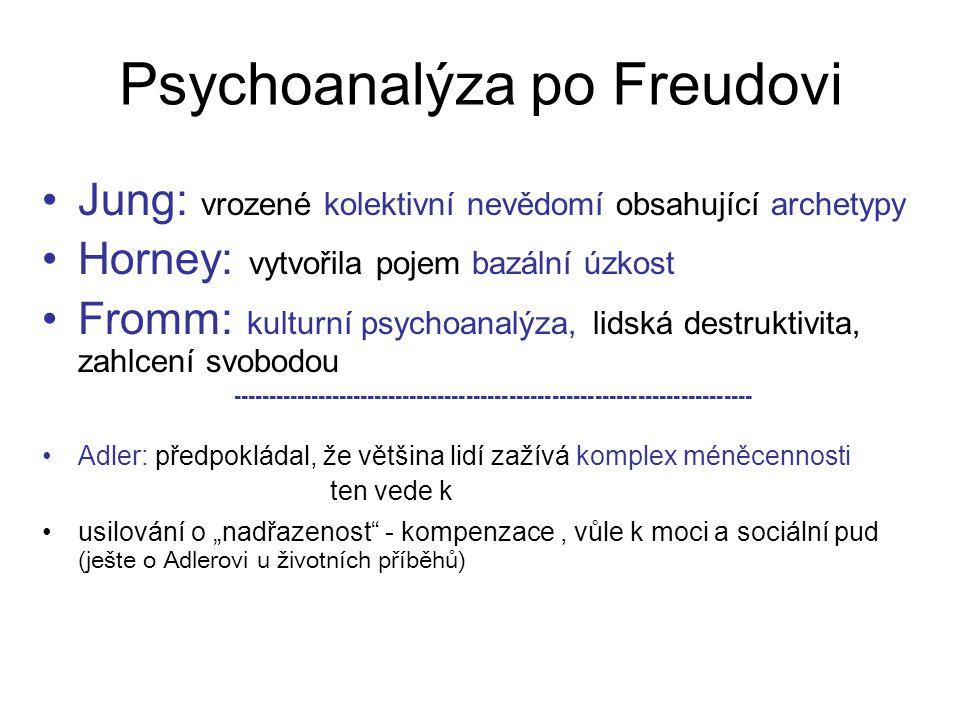 Psychoanalýza po Freudovi