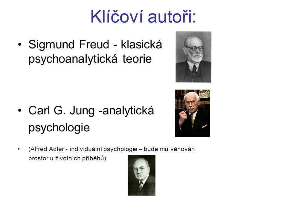 sigmund freud carl jung alfred adler and william james Read this essay on b alfred adler theory comparing sigmund freud and alfred adler -similarity and carl jung, alfred adler, and william james were.
