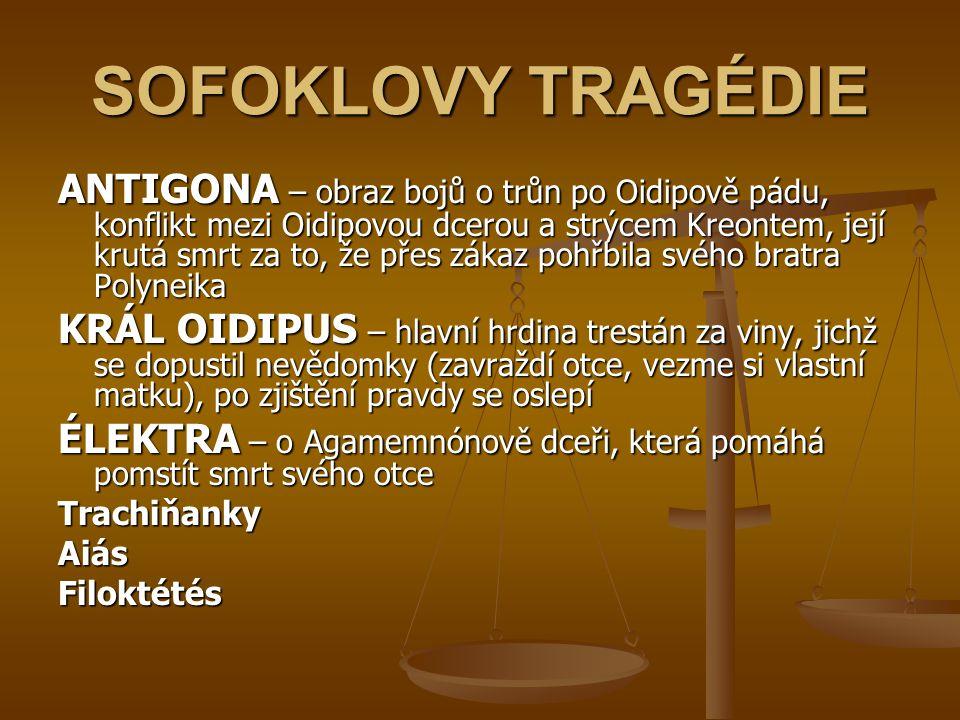 SOFOKLOVY TRAGÉDIE