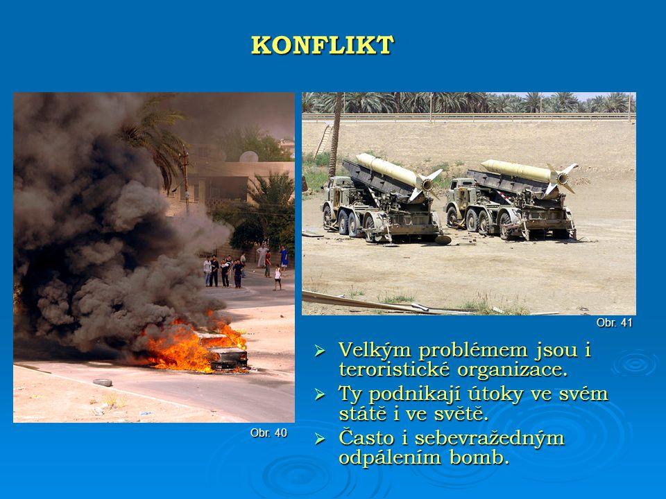 KONFLIKT Velkým problémem jsou i teroristické organizace.
