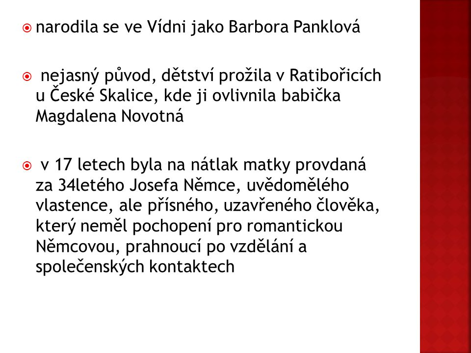narodila se ve Vídni jako Barbora Panklová