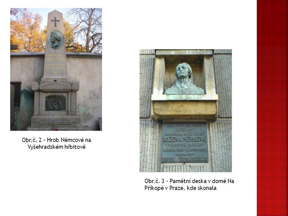 Obr.č. 2 – Hrob Němcové na Vyšehradském hřbitově