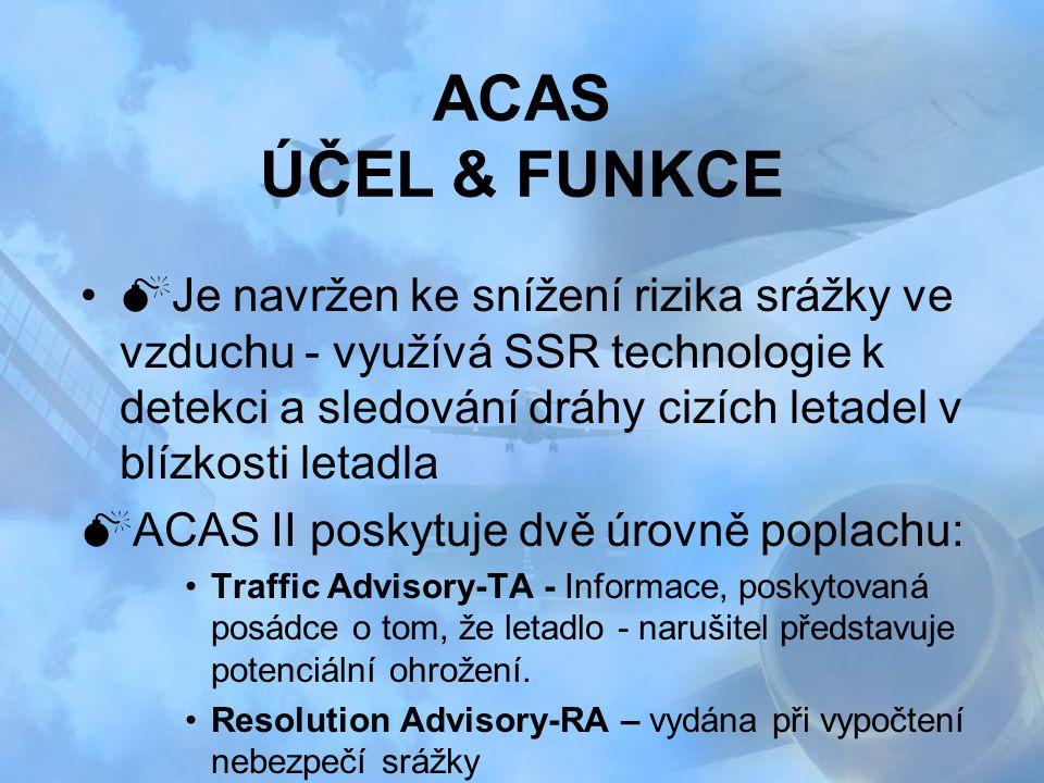 ACAS ÚČEL & FUNKCE