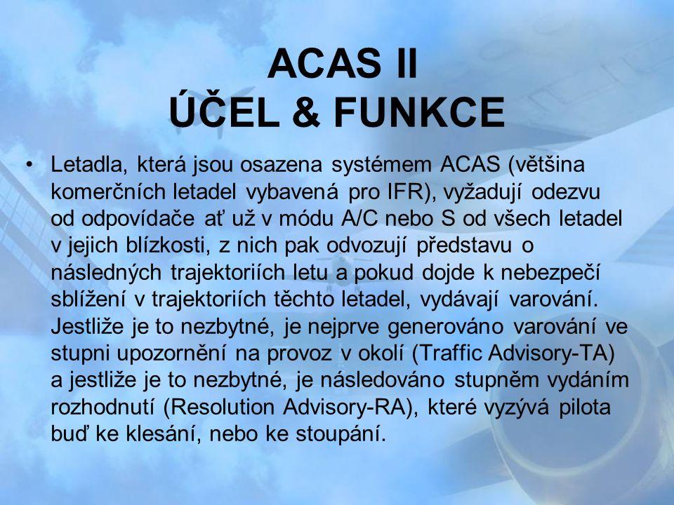 ACAS II ÚČEL & FUNKCE