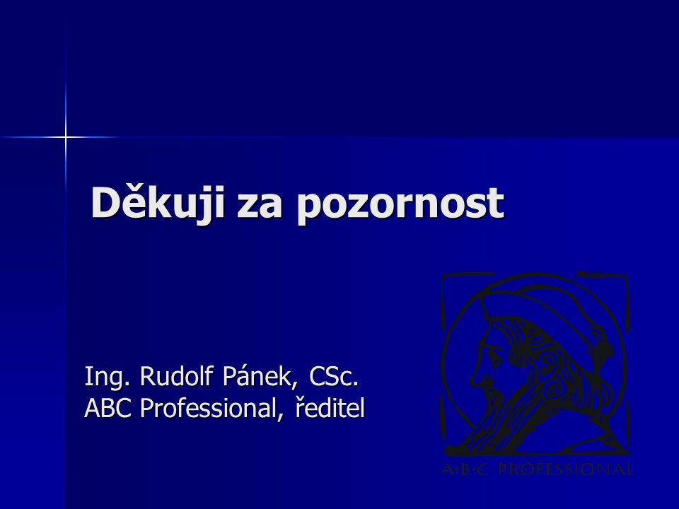 Ing. Rudolf Pánek, CSc. ABC Professional, ředitel